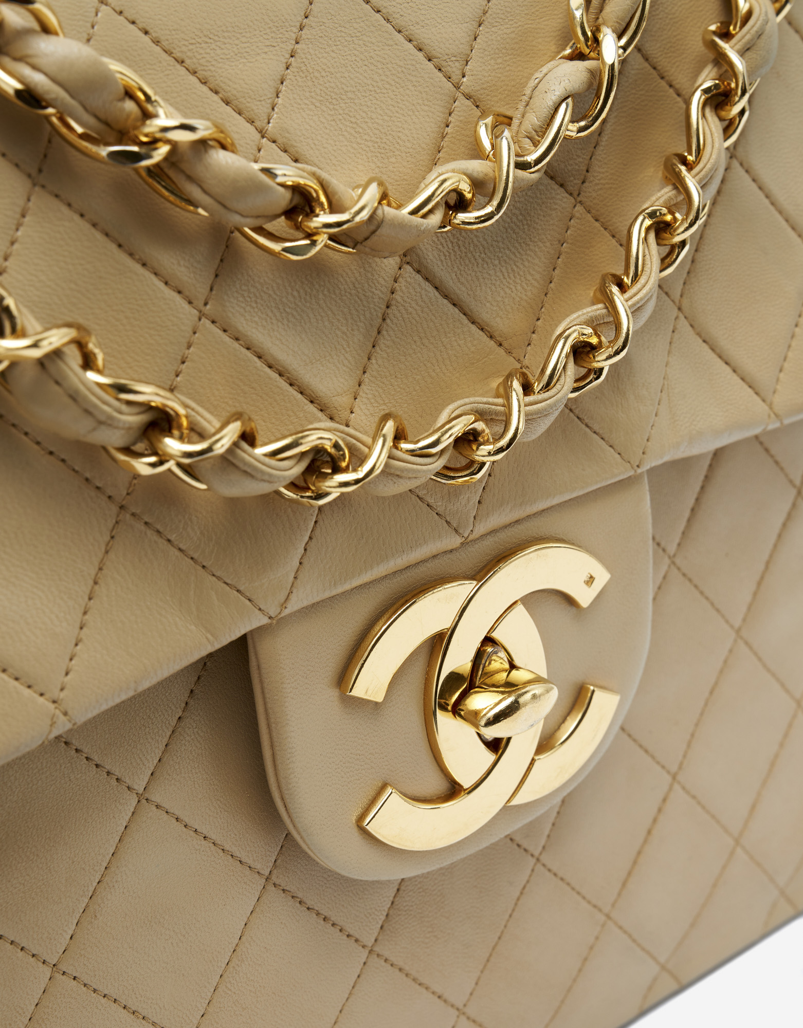 Chanel Timeless Maxi Beige