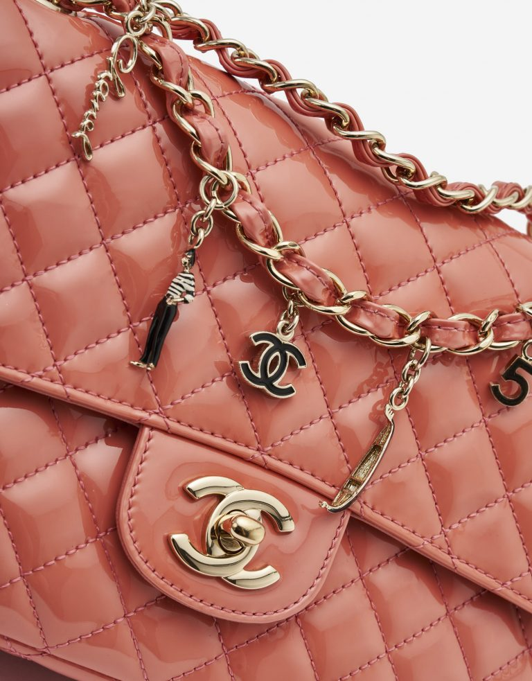 Chanel Timeless Medium Patent Coral Limited Edition SACLÀB