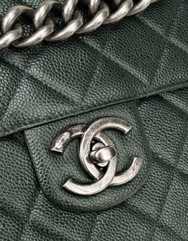 Chanel Timeless Large Caviar Green