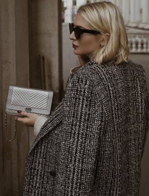 Julietta with the Chanel Wallet on Chain in Silver