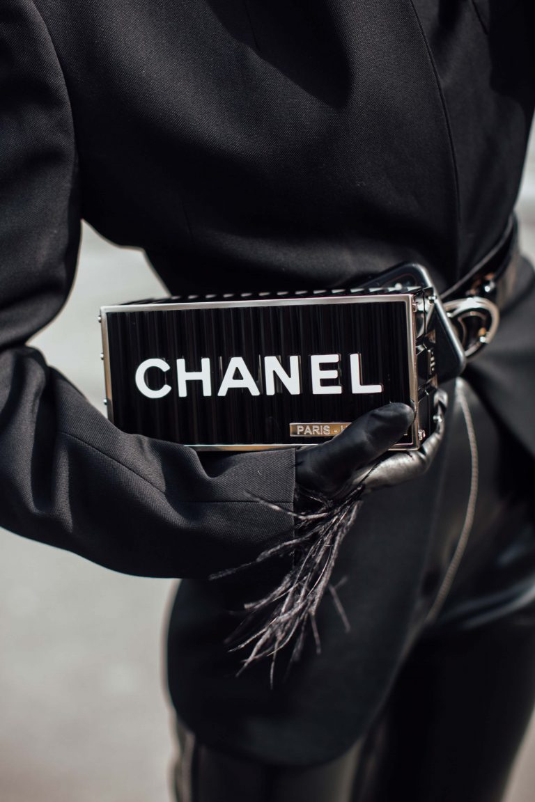Streetstyle with Chanel Clutch
