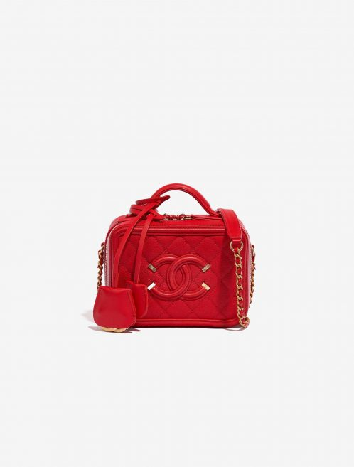 Chanel Vanity Case Small Caviar Red