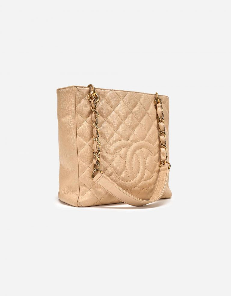 pre-loved Chanel PST Caviar Beige