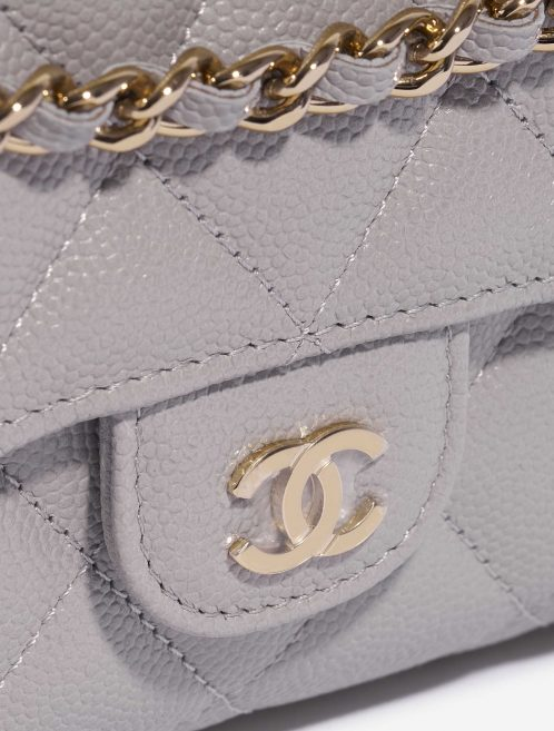 Chanel Timeless WOC Caviar Grey  Closing System   Sell your designer bag on Saclab.com